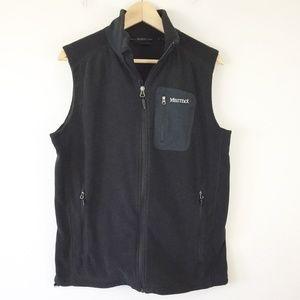 Marmot Black Polartec Fleece Vest Full Zip